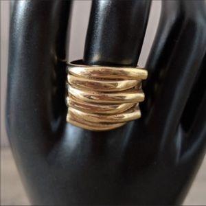 Gold chunky bar ring size 9.5 customer jewelry
